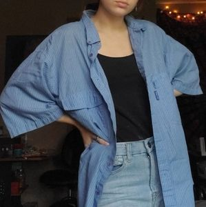 Levi's blue button down shirt XL